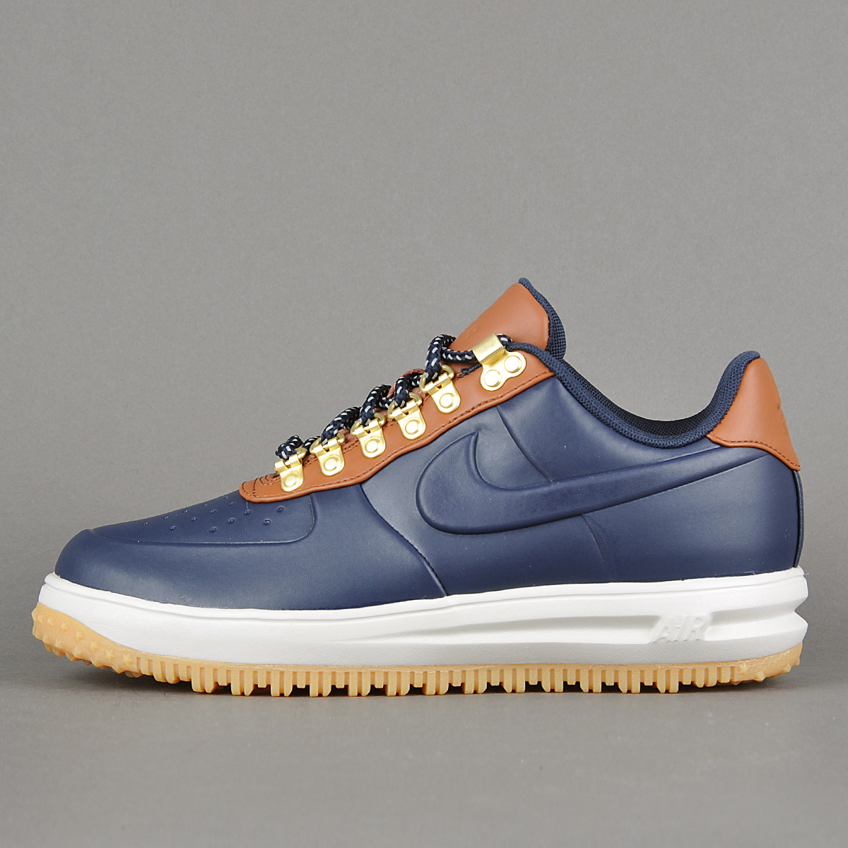 8585df8a84be ... new style nike lunar force 1 duckboot low obsidian saddle brown.