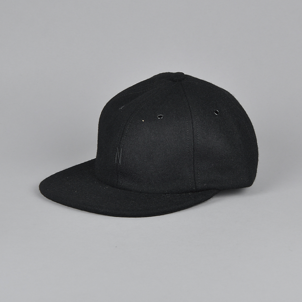 3b1f2413420d2 Norse Projects Moon Wool Flat cap, boot black | Beyond